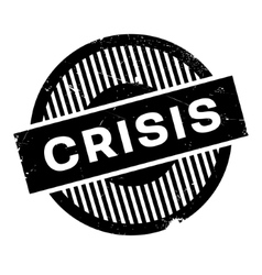 Crisis rubber stamp vector