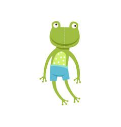 Cute soft frogling plush toy stuffed cartoon vector