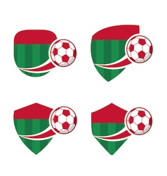Football badge 7 vector