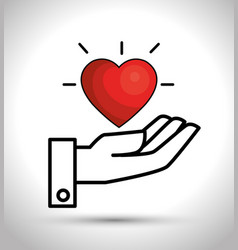 Heart care isolated icon vector