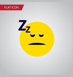 isolated sleeping flat icon asleep element vector image