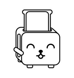 Kawaii bread toaster cartoon vector
