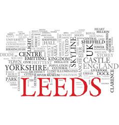 Leeds word cloud concept vector