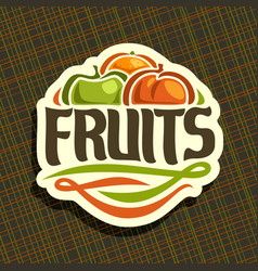 Logo for set fresh fruits vector