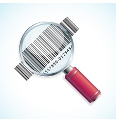 Magnifier and barcode vector
