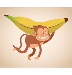 Monkey cartoon design vector