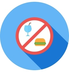 No food or drinks vector
