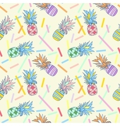 Pattern colour pineapple vector