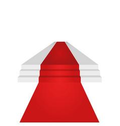 Podium design element red carpet background vector
