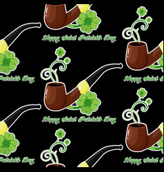 Seamless background for patricks day with simbol vector