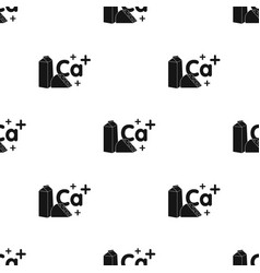 Sources of calcium icon in black style isolated on vector