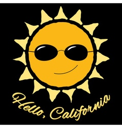 T shirt graphic quote Hello California vector image