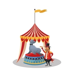 Tent and seal of circus and carnival design vector