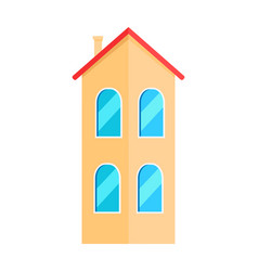Two floor house vector