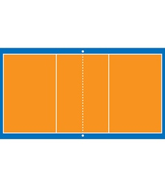 Volleyball court vector