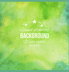watercolor green abstract hand drawing vector image vector image