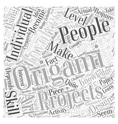 What Can You Make Using Origami Word Cloud Concept vector image vector image