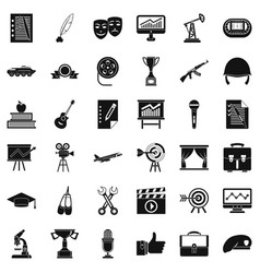 Working target icons set simple style vector