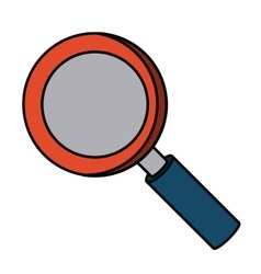 Magnifying glass isolated icon design vector