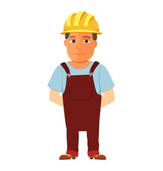 Happy cartoon repairman or construction worker vector