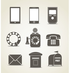 Telecommunicating icons vector