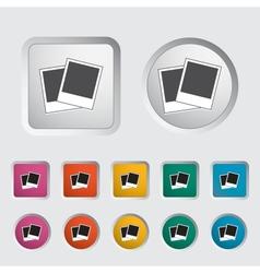 Photo single icon vector image