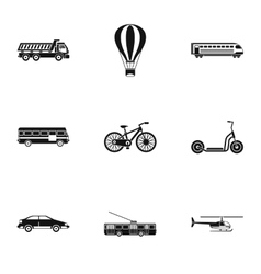 Transport for movement icons set simple style vector