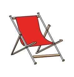 Isolated beach chair design vector