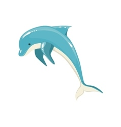 Blue bottlenose dolphin jumping for entertainment vector