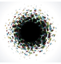 Abstract technology circle digital vector