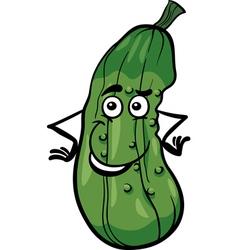 cute cucumber vegetable cartoon vector image