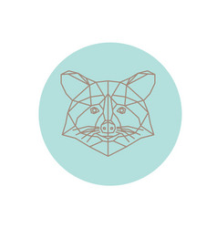 Polygonal abstract raccoon silhouette vector