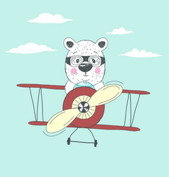 bear fly plain vector image