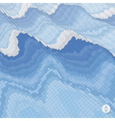 Abstract background with waves mosaic 3d vector