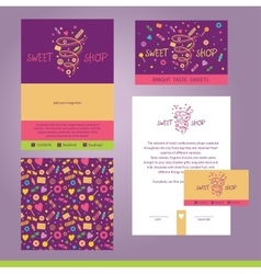Stationery template design for cafe shop vector