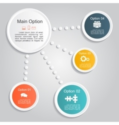 Infographic report template layout vector