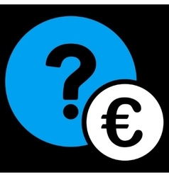 Euro balance query icon vector