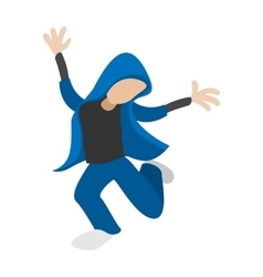 Hip hop dancer cartoon icon vector