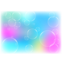 Abstract bubbles with blue color background vector