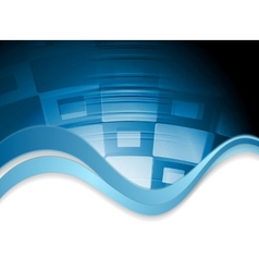 Abstract wavy tech background vector image