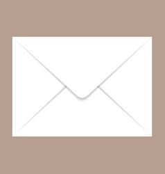 back side c5 envelope mockup realistic style vector image