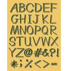 Capital letters of the alphabet vector image
