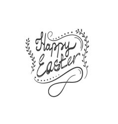 Card with Happy Easter lettering-4 vector image vector image