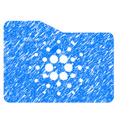Cardano folder icon grunge watermark vector