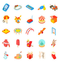 Childness icons set cartoon style vector