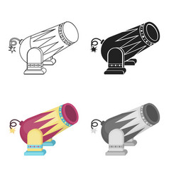 circus cannon icon in cartoon style isolated on vector image vector image