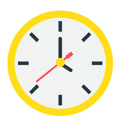 Clock flat icon time and website button vector