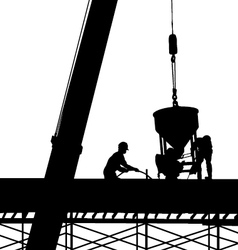 Construction silhouette vector