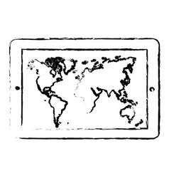 Contour symbol picture map icon vector