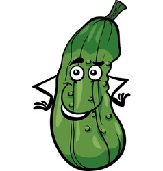 cute cucumber vegetable cartoon vector image